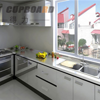 供应得力不锈钢橱柜银白款式
