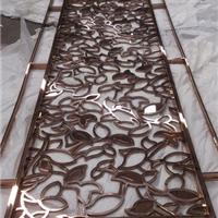 厂家定制不锈钢玫瑰金雕花屏风 隔断