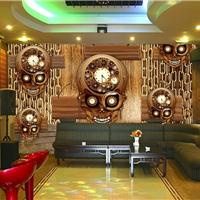 供应复古loft工业墙纸 餐厅仿金属板3d壁纸