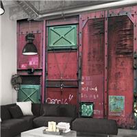 供应餐厅酒吧工业3d金属壁画 KTV生锈铁壁纸
