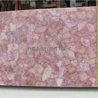 厂家供应粉红水晶装饰板,粉红水晶大板图片