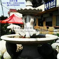 厂家直销大型黄锈石喷泉水钵喷泉雕塑