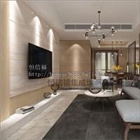恒信福集成墙面 竹木纤维板 现代风格客厅