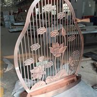 艺锋不锈钢 浮雕镂空镀铜屏风
