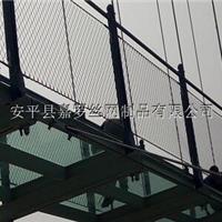 吊桥钢丝绳防护网,桥梁防抛绳网,软桥围网