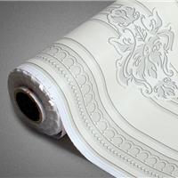 供应无缝对接壁纸彩装膜 pvc防霉壁纸