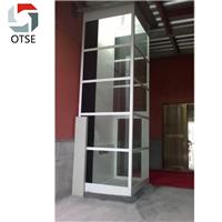 OTSE2层复式楼铝合金井道无底坑螺杆式电梯