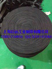 上海 包辊黑绒布 防滑黑绒带 黑绒糙面带