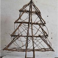 供应外贸出口特色创意圣诞树竹藤装饰工艺品