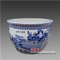 供应陶瓷鱼缸 手绘青花陶瓷大缸 陶瓷缸