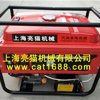 供应上海亮猫7kW-220V电启动汽油发电机组