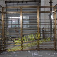 高端定制豪华钛金不锈钢酒柜酒架生产厂家