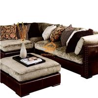居家型转角沙发 可拆卸耐脏型皮布转角沙发