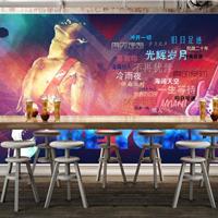 供应餐厅音乐复古墙纸 主题beyond海报壁画