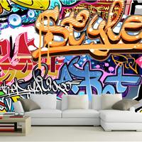 供应餐厅涂鸦3D立体墙纸 酒吧KTV涂鸦壁画
