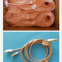供应不锈钢数据线弹簧管 土豪金数据线