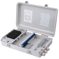 供应24芯塑料光纤分纤箱 法兰支架式