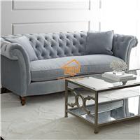 美式布艺沙发 美式123人位组合布艺沙发