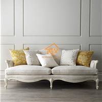 美式布艺沙发 实木布艺沙发