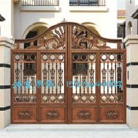 铸铝别墅大门 铝艺庭院门、铝艺门电动大门