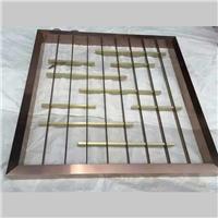 供应不锈钢钛金护栏 格子护栏来图定做