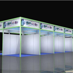 绿色材料成就环保展览铝型材立欣四方柱展架