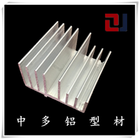供应梳子型散热器铝型材铝合金散热器可订做