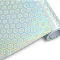 供应PET镭射膜 无版缝平面彩虹膜彩装膜