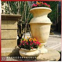 石雕石材花钵花盆房地产小区别墅工程案例