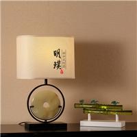 简约中式台灯 长方形中式台灯定做