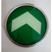 夜光带钢圈钢化玻璃安全出口指示标识