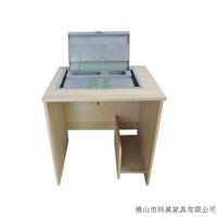 供应K085箱体式翻转桌 多媒体培训室电脑桌
