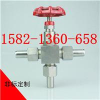 不锈钢304 316外螺纹焊接三通针型阀DN10