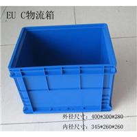 供应上海带盖周转箱  EUC汽配零件箱