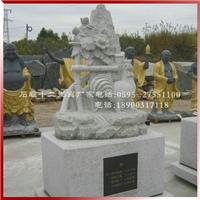 十二生肖白石雕刻图 惠安石雕十二生肖雕塑