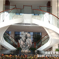 钢化夹胶玻璃扶手,玻璃楼梯,景观楼梯