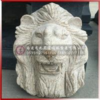 龙头大象头狮子头石雕动物喷水雕塑加工制作
