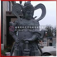 石雕哼哈二将佛像 石雕关公像 济公石雕像