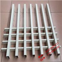 定制铝合金格栅,u型槽木纹铝合金百叶格栅,铝合金方格栅天棚