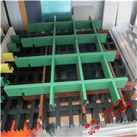 橡木色铝方格栅,长条铝型材格栅,铝合金方格栅吊顶间距
