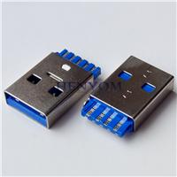 USB 3.0 A公短体焊线 一体式3.0 A M线端