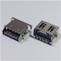 USB 3.0 AF斜口母座 斜口沉板破板式