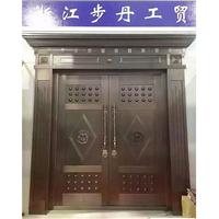 步丹铜门门博会展品