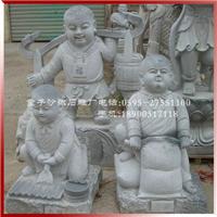 童子雕像春耕夏耘收秋冬藏人物石雕定做