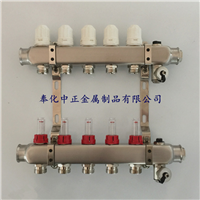 供应地暖分水器,不锈钢流量计分集水器