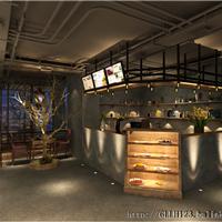 成都咖啡厅设计公司-loft工业风格咖啡厅