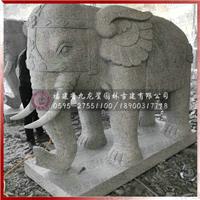 白麻石雕大象门口吸财石材艺术制品图片