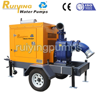 供应8寸拖车式移动泵站,应急抢险排水泵车