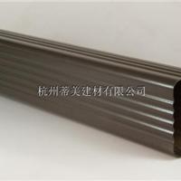 彩铝方形水管最新报价,铝合金下水管