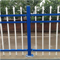 供应本溪蓝白锌钢护栏 绿色公园草坪护栏